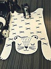 QIANGQI Teppich Kreatives Zuhause Tiger