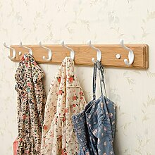 Qiangzi 6-dekorative Weiße Haken Auf Antikem Jumbo Holzbrett Kleiderständer Kleiderbügel Schlafzimmer Tür ( größe : 6 hooks )