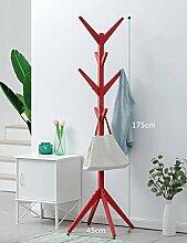 Qiangzi Garderobe Boden Typ Einfache Schlafzimmer Wand Kleiderständer Ecke Kleiderbügel Haushalt Kleiderbügel ( Farbe : Rot )