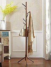 Qiangzi Mantel Racks Boden Holz Kleiderbügel Wohnzimmer Schlafzimmer Mode Kleiderständer(5Colors, 41 * 171cm) ( Farbe : Braun )