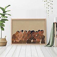 QianLei Minimale Moderne Wandkunst Strand Schwarze