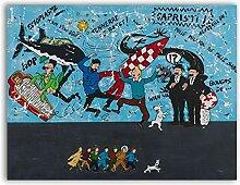 QianLei Wandkunst Leinwand Malerei Bild Cartoon