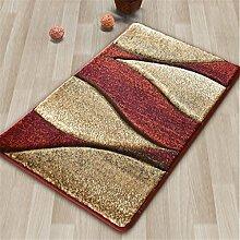 Qianmo-Carpet Tür Pad nordische Küche Home Matten Matten für Kinder Rot B-Modelle 500 Mmx 800 Mm
