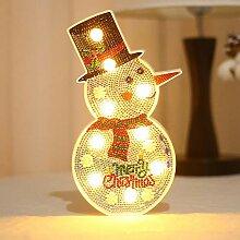 Qianren Weihnachten Dekorative LED Lampe mit 5D