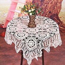 Qiao jin Tischdecke Vintage gehäkelte Tischdecke