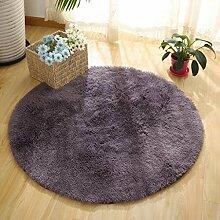 QIAO Teppich Teppich Wohnzimmer Schlafzimmer Runde