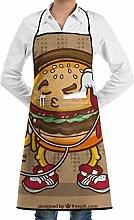 QIAOJIE Burger-Lätzchen Schürze für Damen und