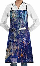 QIAOJIE Fantasy Night City Apron, Unisex Kitchen