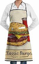 QIAOJIE Klassische Burger-Lätzchenschürze für