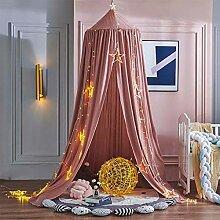 QIAOQ Himmelbett Kinderzimmer Nachttisch Baumwolle