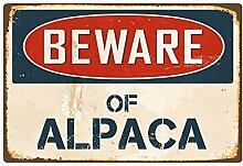 qidushop Blechschild mit Aufschrift Beware of