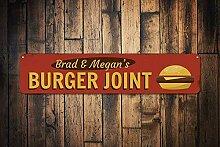 qidushop Burger Joint Sign Personalisiertes