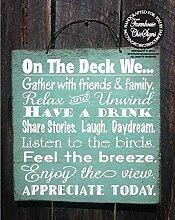 qidushop Deck Rules Deck Schild,