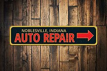 qidushop Garage Auto Repair Sign Personalisierter