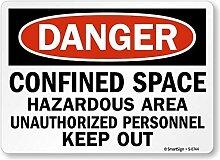 qidushop Garage Yard Zaun Schild Danger Engem Raum