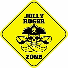 qidushop Jolly Roger Zone Dekorative Schilder
