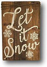 qidushop Let It Snow Schild Weihnachten Schild