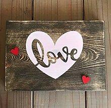 qidushop Love Schablonen-Dekoration, für