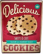 qidushop Nostalgic Fun Cookies Metallschilder