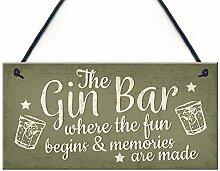 qidushop Wandschild für die Bar, zum Aufhängen,