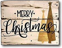 qidushop Weihnachtsschild Merry Christmas,