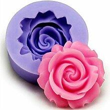 Qifumaer 1 Stück DIY Rose Form Silikon Fondant