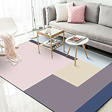 QiJi-Home Modern Area Teppich Wohnzimmer Waschbar