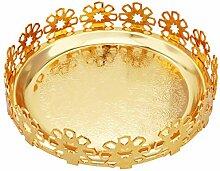QILICZ Golden Metall Tablett Serviertablett