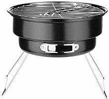 QILICZ Holzkohlegrill Rundgrill BBQ Portable