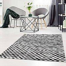 Qilim Flachflor Teppich Modern Meliert Karo-Design