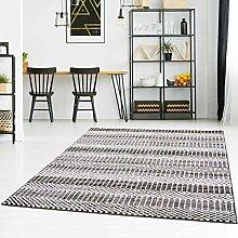 Qilim Teppich Flachflor Modern mit Karo-Muster und