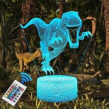 QiLiTd 3D Dinosaurier Lampe LED Nachtlicht mit