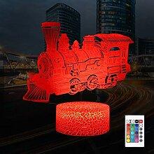 QiLiTd Zug Eisenbahn Lampe LED Nachtlicht mit