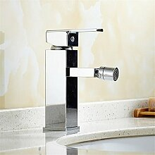 QIMEIM Bad Wasserhahn Waschtischarmatur Messing