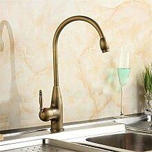 QIMEIM Küchenarmatur Wasserhahn Küche Messing
