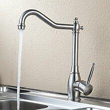 QIMEIM Wasserhahn Küche Küchenarmatur Edelstahl