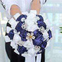 Qin&X Hochzeit Brautstrauß Kunstseide mit Blumen