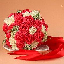 QIN&X Hochzeit Brautstrauß Kunstseide mit