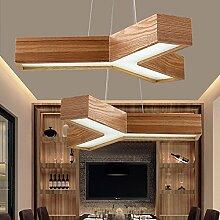 QINCH Home LED Office Massivholz Kronleuchter