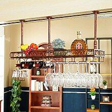 Qing MEI Wand-Weinregal Flaschenhalter mit