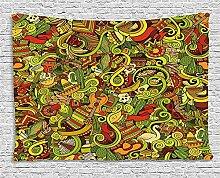 qinghexianpan Fiesta Wandteppich, Cartoon Stil