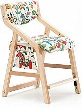 QINGPINGGUO QPG Kind Lernen Stuhl Esszimmerstuhl Bank Massivholz Kann Stuhl Stuhl Sessel Schreibtisch Und Stuhl Hause Kleine Hocker Heben (Farbe : A)