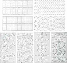 Qingsi 8 Stück Kuchen Muster Prägung Transparent