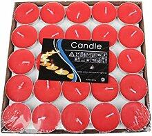 Qinlee 50 Stück Teelicht Herzform Set Romantische