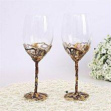 QINLEI die neue, hochwertige glas rotwein pokal anzug kreative gold cup das double