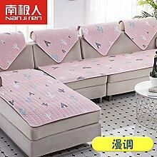 QINQIN Spitzen-Anti-rutsch Sofabezug,Simple Blumen