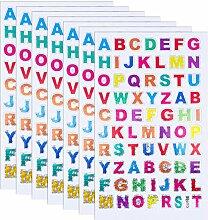 QINREN 60 Blätter Buchstaben Aufkleber