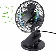 QINUKER USB Mini Ventilator Clip Fan, Oscillating
