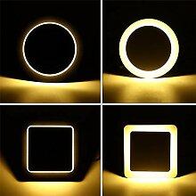 QinWenYan Wandlampe Leuchter-Licht-Rotating