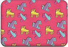 qinzuisp Türmatte Retro Roller Skates Muster